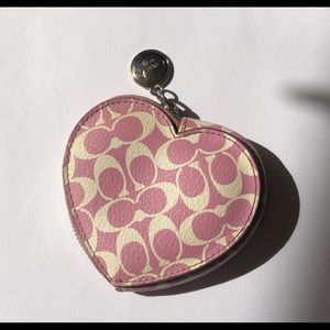 Coach Heart Coin Keychain